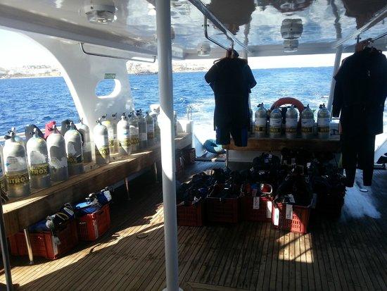 Ocean College Dive Centre : Seagull - Diving deck