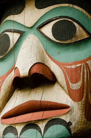 Totem Bight State Historical Park: Totem detail