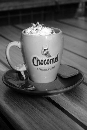 Van Gogh Cafe: Warme chocolademelk met slagroom! Yummy :)