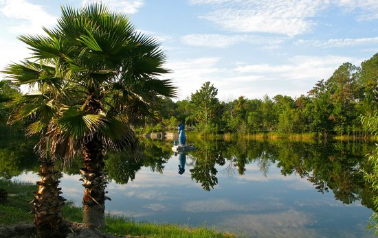 Cody's Catfish Pond and RV Park : catfish pond with giant Seahorse