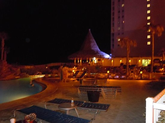 Holiday Inn Resort Pensacola Beach : pool area at night