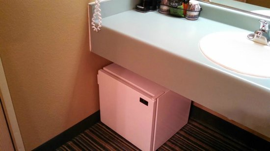 Best Western Alderwood : More of a micro fridge but it kept my drinks cold.