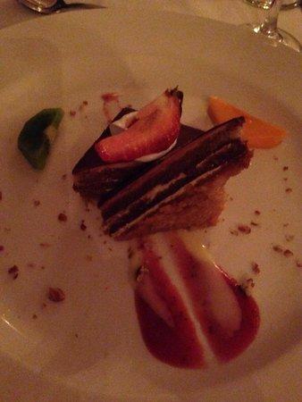 Crown Paradise Club Cancun : French:  almond cake.