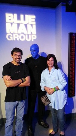 Blue Man Group: Did you ever feel like someone was staring at you?