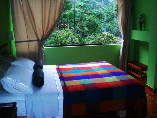 Machu Picchu Green Nature: Habitacion y vista exterior