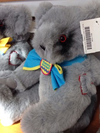 Vermont Teddy Bear Company : Happy Easter, zombie bear... Get it? It has risen from the grave? Hehehe.