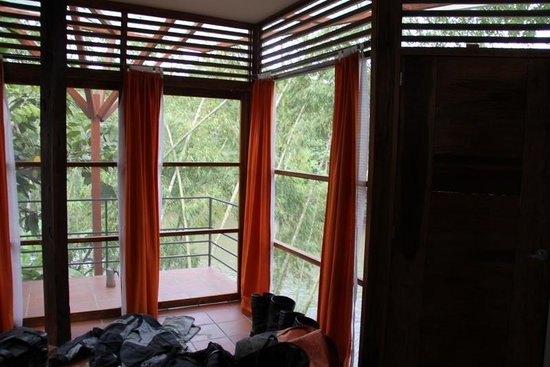 Itamandi EcoLodge : windows in the rooms make you feel in the jungle