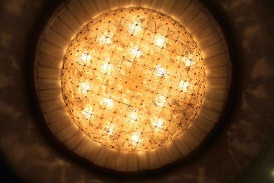 Bauer Palazzo: Um dos lustres do Bauer, feito de cristal de Murano,