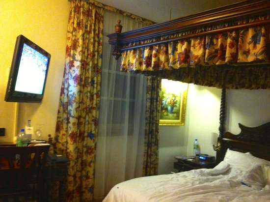 KING's HOTEL Center: Letto a Baldacchino