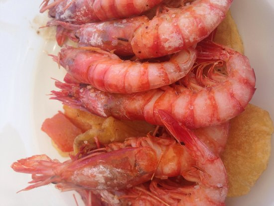 Cala Bassa Beach Club: Juice Salt Prawns