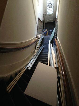 Quentin Amsterdam Hotel: Fire escape route