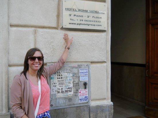 Hotel Roma Vaticano: Hotel sign