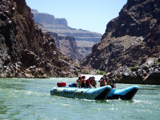 Hualapai River Runners: On the river with a few other Haulapai whitewater boats