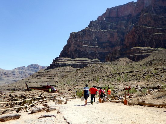 Hualapai River Runners: Helicopter launch site