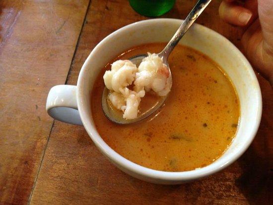 Saegreifinn - The Sea Baron : The famous soup- super tender lobster!