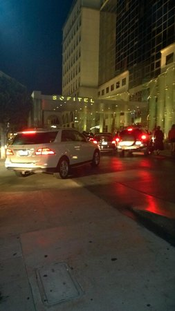 Sofitel Los Angeles at Beverly Hills : Valet chaos because they leave all the supercars out here blocking.