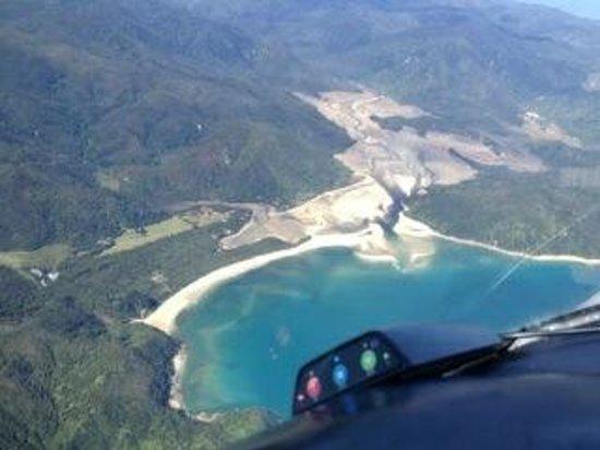 Adventure Flights Golden Bay: Awaroa Bay, near Takaka.