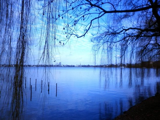 Alster Lakes: Beautifully blue lake waters