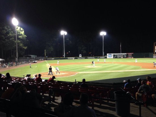 Grayson Stadium: Top of the 9th and we are winning!
