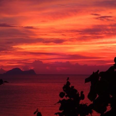 Permai Rainforest Resort: sunset view from Permai Rainforest