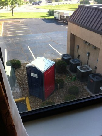"Hampton Inn St. Louis/Sunset Hills: view of a port-a-potty from my room is a reminder of the ""unadvertised"" construction at this hot"