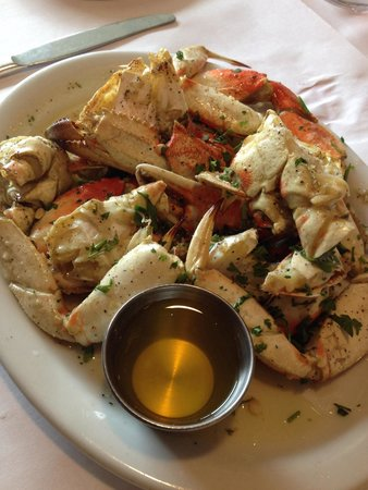 Fishermen's Grotto: Flavorful a Lemon Garlic Butter Crab. But at $37 --- I don't think so.
