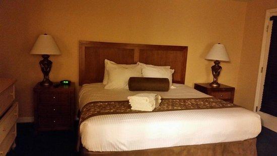 Liki Tiki Village: Master bedroom in  un updated villa