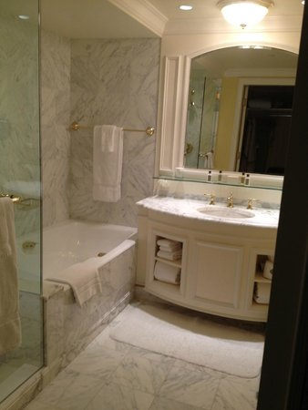 Grand America Hotel: The spacious bathroom, separate shower/tub. Toilet in adjoining room
