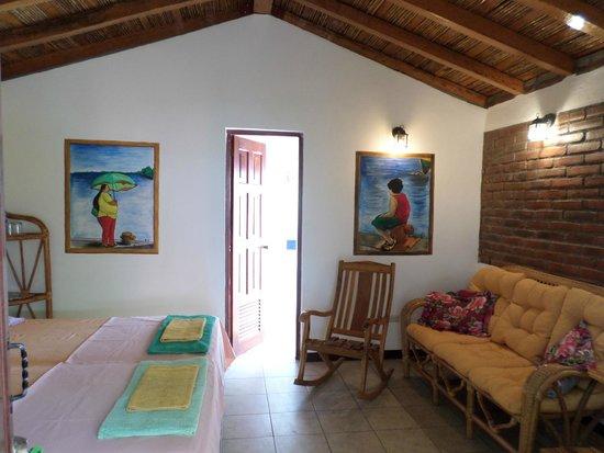 Hotel Casa de Pacifico Masachapa Playa : Habitacion verde