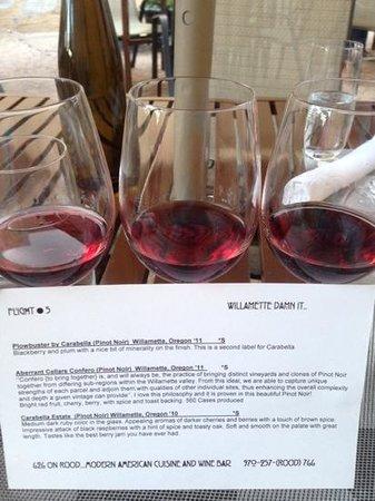 626 on Rood : Pinot Flight
