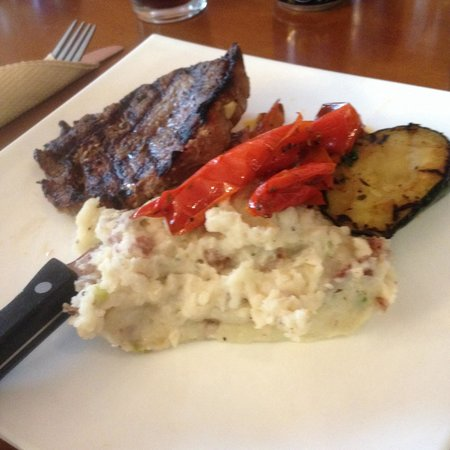 Big Feast: Steak and mashed potatoes. Excellent!