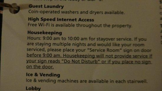 Ambers Hideaway: Housekeeping Rule
