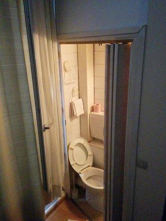 Novex : Bathroom is a small closet.