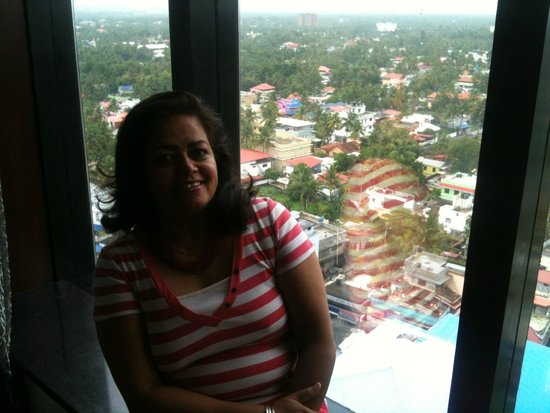 Holiday Inn Cochin: My wife sitting in the window