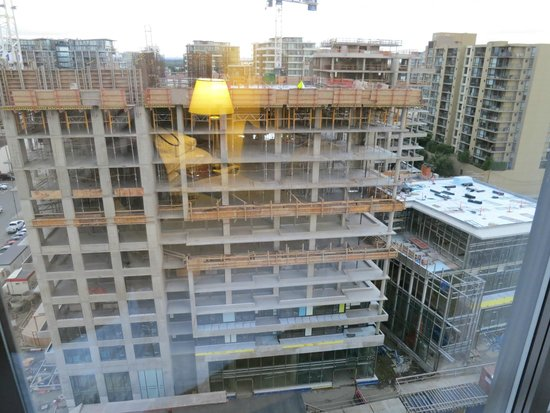 Hilton Vancouver Airport: View from bedroom, room 1602, construction across the street.