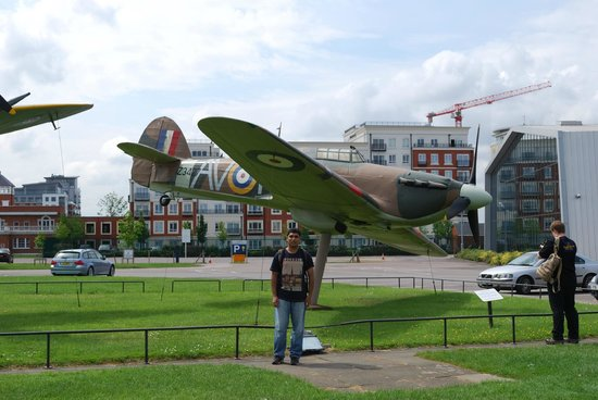 The Royal Air Force Museum London : at the entrance...a spitfire