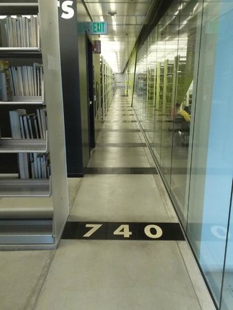 Seattle Public Library: Dewey Decimal numbers on the floor