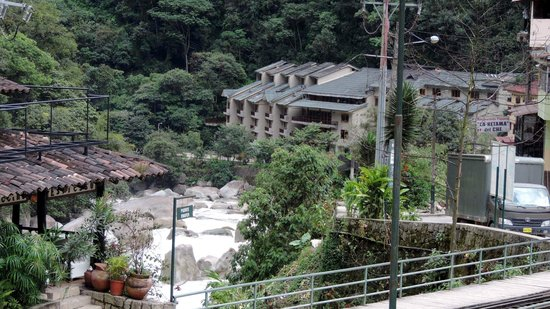 SUMAQ Machu Picchu Hotel: Taken from town near railway station and market