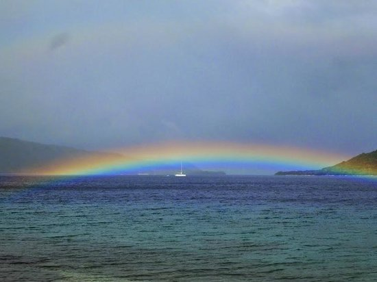 Tranquillity Island Resort & Dive Base : rainbow over channel