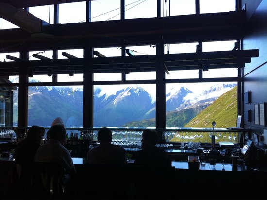 Seven Glaciers : View from the bar