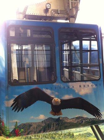Seven Glaciers: Tram to the restaurant