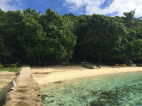 Tranquillity Island Resort & Dive Base: view from jetty to main beach