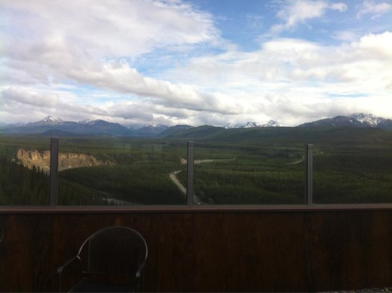 Alpenglow Restaurant- Grande Denali Lodge: View from our table
