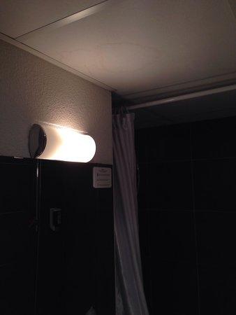Privilodges Le Royal - Apparthotel : Belle auréole sur le plafond de la salle de bain