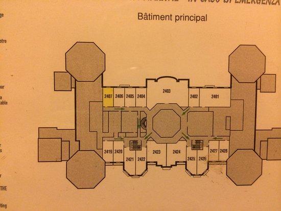 Disneyland Hotel : Plan 2em stage Castle Club