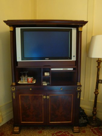 The St. Regis Rome: TV with stand that had extra drawers in it
