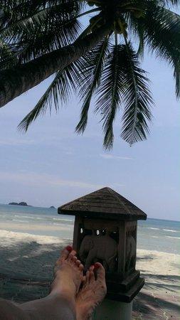 Klong Prao Resort Koh Chang: Белый песок , пальма и слоники