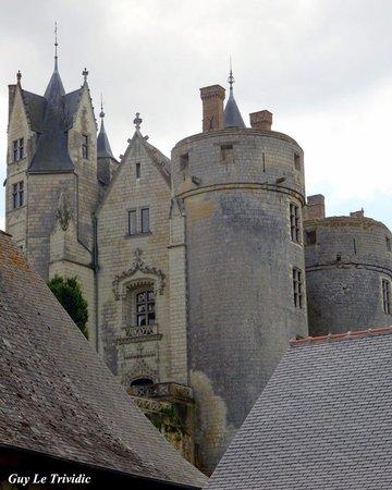Chateau de Montreuil-Bellay : Les toits du château vus des remparts ..