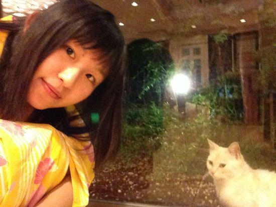 Izu Okawa Onsen Hotel: 可愛浴衣及可愛的貓