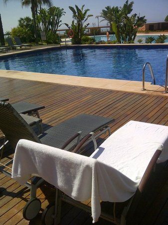 Chateau les Merles : photo taken in Spain of correct size (dark/hot) lounger towel